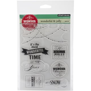 """Penny Black Clear Stamps 5""""X7.5"""" Sheet-Wonderful & Jolly"""