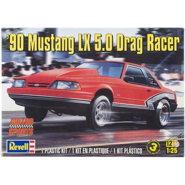 Plastic Model Kit-'90 Mustang LX 5.0 Drag Racer 1/25