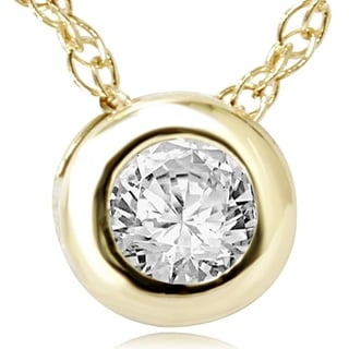 14k Yellow Gold 1/4ct Necklace