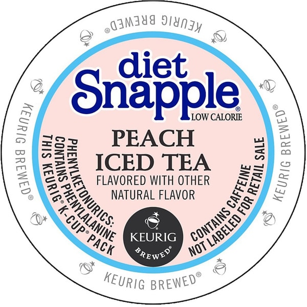 Snapple Diet Peach Iced Tea K-cup Portion Pack