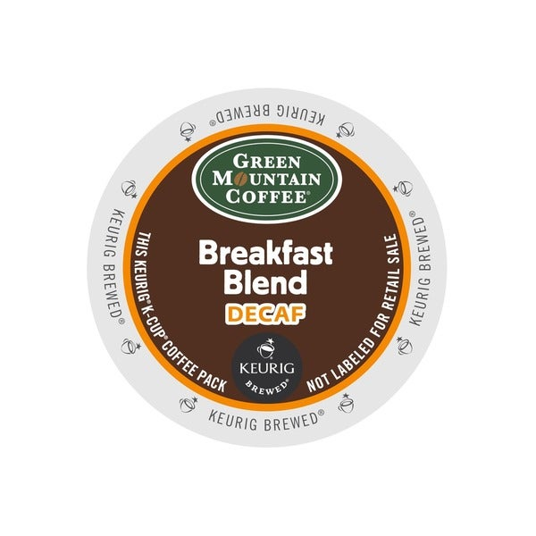 Green Mountain Coffee Breakfast Blend Decaf Coffee K-cup Portion Pack (48 or 96 count)
