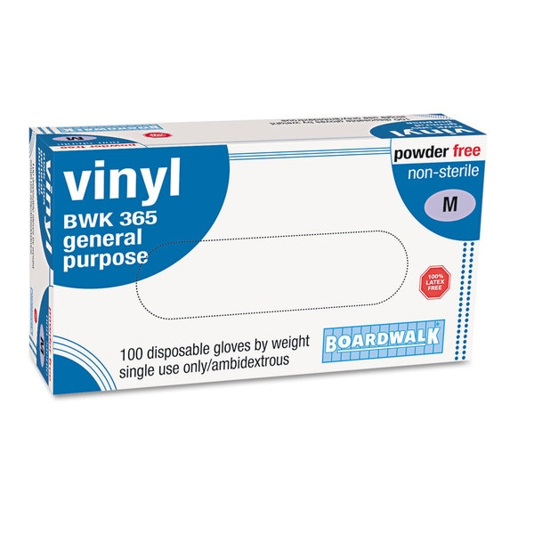 Boardwalk General-purpose Vinyl Gloves/ Latex-free/ Large/ Clear (Box of 100)