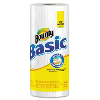 Bounty Basic Paper Towels/ 11 x 10.4/ White (Roll of 48 Towels/ Carton of 30)