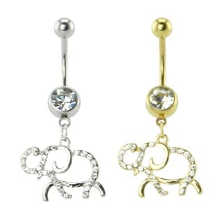 Supreme Jewelry Elephant with Bling Belly Ring