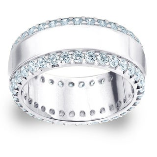 Amore Platinum 1 1/2ct TDW Railroad Diamond Wedding Band (G-H, SI1-SI2)