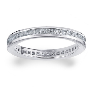 Amore Platinum 1ct TDW Diamond Eternity Wedding Band (G-H, SI1-SI2)