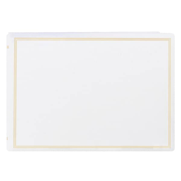 Pioneer Postbound Deluxe White Leatherette X-Pando Magnetic Album with 2 bonus refill packs