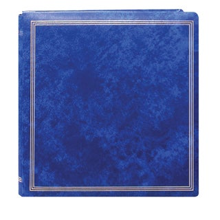 Pioneer Postbound Deluxe Royal Blue Leatherette Cover X-Pando Magnetic Album with 2 bonus Refill Packs