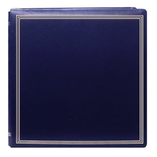 Pioneer Postbound Deluxe Boxed Navy Leatherette Cover with 2 bonus refill packs