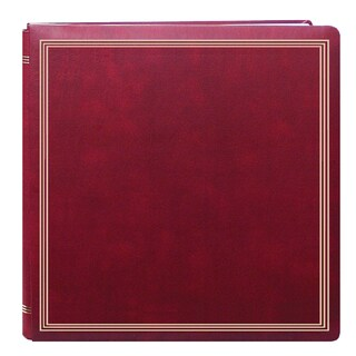 Pioneer Postbound Deluxe Boxed Burgundy Leatherette Cover with 2 bonus Refill Packs