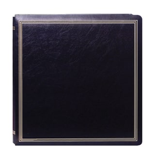Pioneer Postbound Deluxe Boxed Black Leatherette Magnetic Album with 2 Bonus Refill Packs
