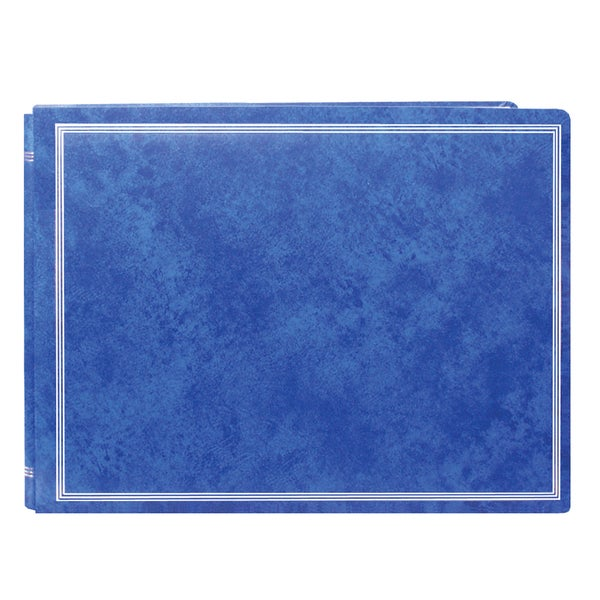 Pioneer Postbound Deluxe Boxed Royal Blue Leatherette Magnetic Album with 2 bonus Refill Packs