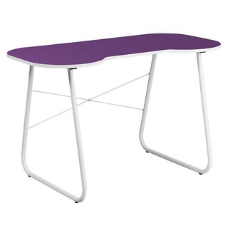 Offex Purple Computer Desk with White Frame