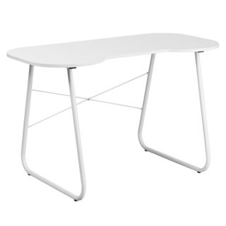 Offex White Computer Desk with White Frame