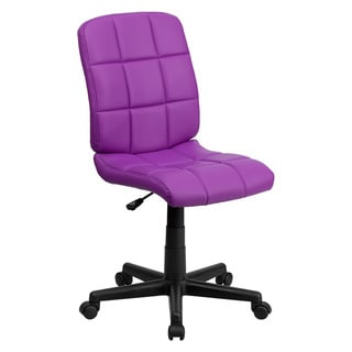 Offex Mid-Back Purple Quilted Vinyl Task Chair