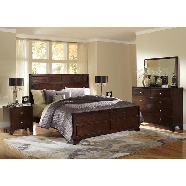 Baxton Studio Tichenor King 5 Piece Wooden Modern Bedroom Set