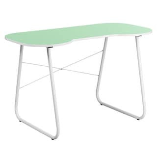 Offex Green Computer Desk with White Frame