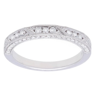 Platinum 3/8ct TDW Diamond Wedding Band (G-H, VS2-SI1)