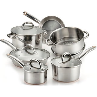 T-Fal Ultimate Stainless Steel Copper Bottom 10-piece Set