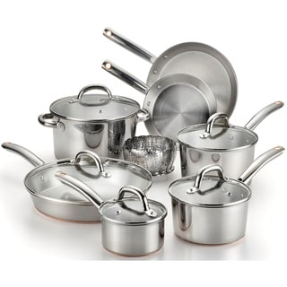 T-Fal Ultimate Stainless Steel Copper Bottom 13-piece Cookware Set