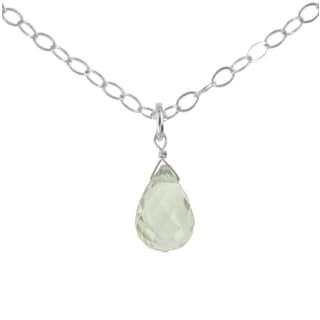 Ashanti Sterling Silver Mint Green Quartz Gemstone Handmade Pendant (Sri Lanka)