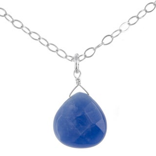 Ashanti Sterling Silver Kyanite Gemstone Handmade Necklace (Sri Lanka)