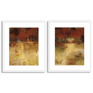 Caroline Ashton's 'Fall Foliage I' and 'II' Art Two Piece Set