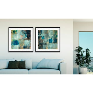 Jane Bellows's 'Tangent Point I' and 'II' Art Two Piece Set