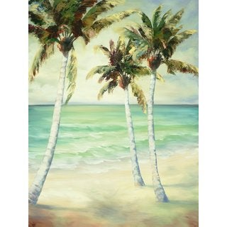 Breezy Palms 6 Large Printed Canvas Wall Art