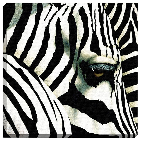 Do Zebras Dream in Color Printed Canvas Wall Art