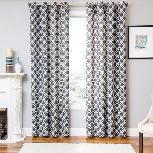 Burma Ikat Grommet Top Curtain Panel