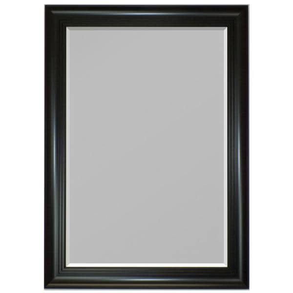 3-step Satin Black Framed Wall Mirror