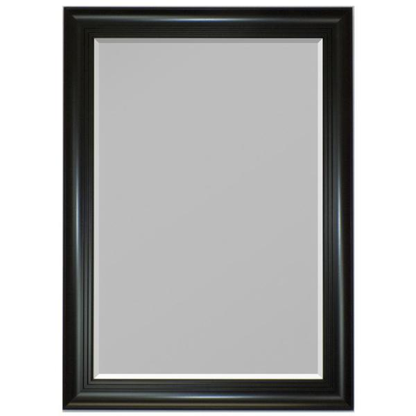 3-step Satin Black Framed Wall Mirror