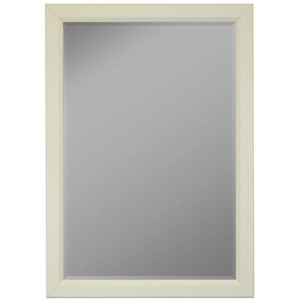 White Satin Profile Edge Framed Wall Mirror