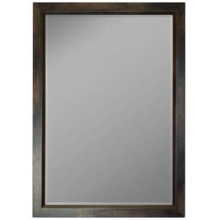 Espresso Walnut Profile Edge Framed Wall Mirror