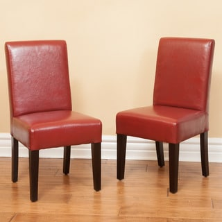 Parsons Children Bonded Leather Dining Chairs (Set of 2)