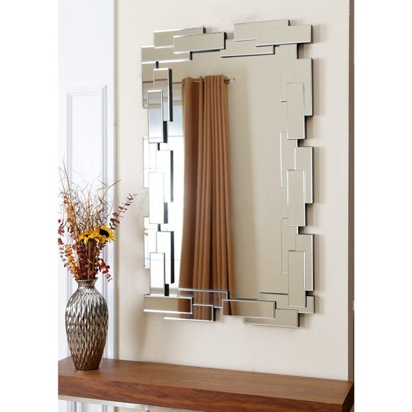 Rectangle wall mirror decorative living room den entry way decor silver ebay - Home decor wall mirrors collection ...
