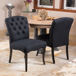 Christopher Knight Home Hallie Scroll Pattern Fabric Dining Chairs (Set of 2)