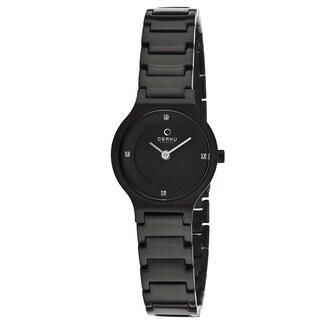 Obaku Women's V133SBBSB 'Harmony' Black Stainless Steel Watch