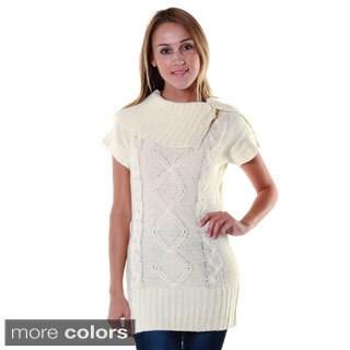 Hadari Women's Contemporary Shawl Collar Tunic