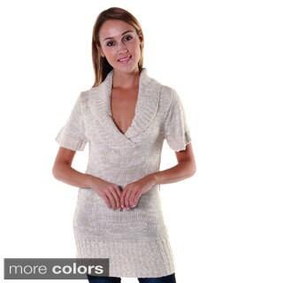 Hadari's Women's Shawl Collar Tunic Dress