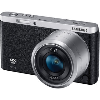 Samsung NX Mini Mirrorless Black Digital Camera with 9-27mm Lens