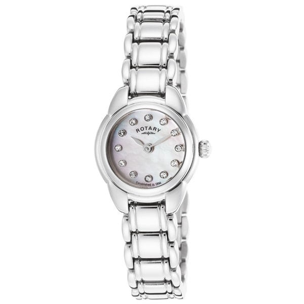 Rotary Women's ROTARY-LB02601-07 Classic White Mother of Pearl Watch