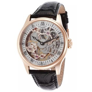 Rotary Men's ROTARY-GS02522-01 Automatic Rose Goldtone Skeleton Watch