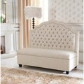 Baxton Studio Trumbull Beige Bonded Leather Modern Banquette Bench