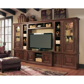 Signature Design by Ashley 'Gaylon' Burnished Brown Entertainment Center