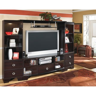 Signature Design by Ashley 'Pinella' Merlot Entertainment Center