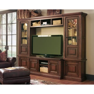 Signature Design by Ashley 'Gaylon' Large Brown T.V. Entertainment Center