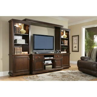 Signature Design by Ashley 'Porter' Large Rustic Brown Entertainment Center