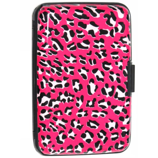 As Seen on TV Pink Leopard Design Aluminum Wallet